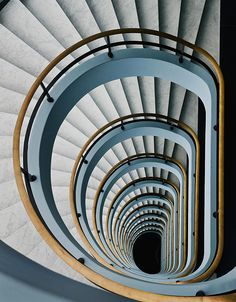 Black Hole by Jef Van Den Houte Photographic Print on Canvas-This spiral staircase image will draw you in from Architectural photos, wall decor, black and white art Amazing Architecture, Architecture Details, Staircase Architecture, Beautiful Stairs, Take The Stairs, Stair Steps, Stairway To Heaven, Staircase Design, Stair Design