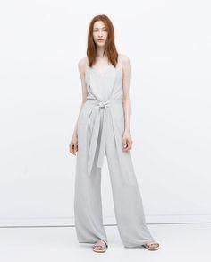 JUMPSUIT DRESS WITH TIE WAIST