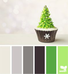 Christmas tones with lime green color combination palette.