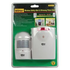 The Drive Way Alarm This Homessafe Wireless Safety Alert & Driveway Patrol Alarm has a unique passive infrared system that concentrates on the protected area you select. Best Home Security System, Wireless Home Security Systems, Security Cameras For Home, Driveway Alert, Home Safety Tips, Motion Detector, Home Protection, Home Defense, Protecting Your Home