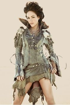 Love the jacket and would totally rock it with some trousers and boots, maybe a little hat or hair piece.