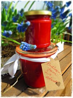 Erdbeer Jam - Erdbeermarmelade mit Holunder