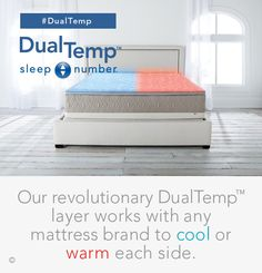 The revolutionary #DualTemp layer by #SleepNumber can cool or warm each side of any #bed.