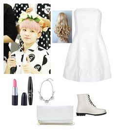"""""""Woozi"""" by kpop200 on Polyvore featuring Alice + Olivia, Circus By Sam Edelman, NYX and GUESS"""