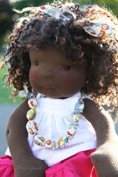 ❤js . Doll Toys, Baby Dolls, African American Dolls, Sewing Dolls, Dollhouse Dolls, Dollhouse Miniatures, Waldorf Dolls, Doll Hair, Soft Dolls