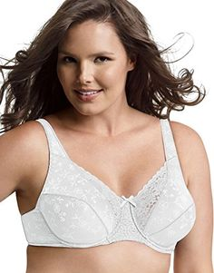 Playtex Secrets Signature Florals Fuller Underwire Bra_White_36D ** Check out this great product.