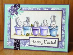 FS471 Bunnies in a Row by Dockside - Cards and Paper Crafts at Splitcoaststampers