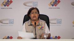 La presidenta del CNE de Venezuela, Tibisay Lucena./ EFE