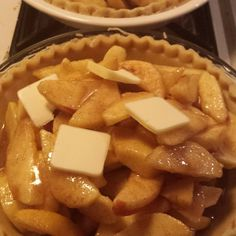 The before I'm baked and topless apple pie. # apple #pie
