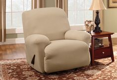 Sure Fit Slipcovers Stretch Greek Key Recliner - Recliner