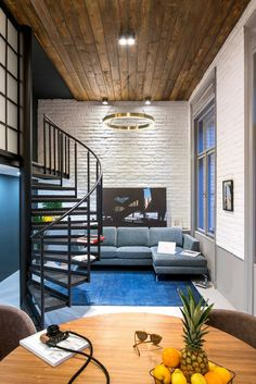 Two-Bedroom Luxury Studio Flat with Heavy Postindustrial Features