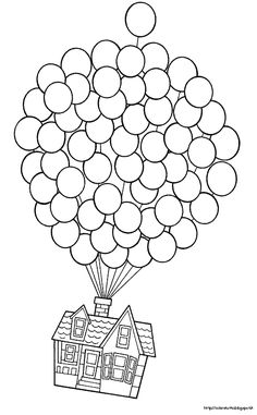 Up-Use this pic but let kids use fingerprints in balloons for color and real string. Make your world more colorful with free printable coloring pages from italks. Our free coloring pages for adults and kids. Coloring Book Pages, Printable Coloring Pages, Disney Colouring Pages, Wedding Coloring Pages, Free Coloring, Coloring Pages For Kids, Colouring In, Coloring Pictures For Kids, Mandala Coloring
