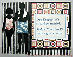 Busy with the Cricky - Mad Men inspired card using Cricut Suburbia cartridge and home printer.