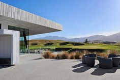 The Hills Golf Clubhouse - New Zealand Golf - Queenstown New Zealand Country, Luxury Villa Rentals, Vacation Villas, Luxury Accommodation, Luxurious Bedrooms, Luxury Travel, Golf Courses, Outdoor Structures, Architecture