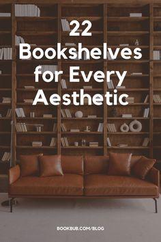 These bookshelf ideas are inspiring, no matter your aesthetic. #books #bookshelf #bookshelves Bookshelf Ideas, Bookshelves, I Love Books, Great Books, Reading Nook Kids, Book Memes, Book Nooks, Nook Ideas, House Design