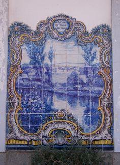 Painel de Azulejos: Um Trecho do Rio Xevora, Campo Maior - Elvas   by valeriodossantos