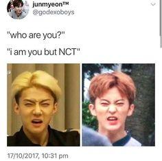 (notitle) - k-pop - Info Korea Funny Kpop Memes, Kid Memes, Meme Faces, Funny Faces, K Pop, Nct 127, Sehun, Nct Dream Renjun, Mean Humor