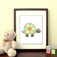 Turtle Printable Art - Available in new colors combos!