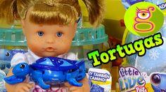 La Bebé Nenuco juega con sus Tortugas Molonas y su Tanque para nadar - L...