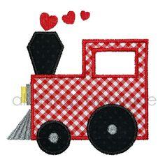 Valentine Applique Design  Train with Heart by allthingsapplique, $4.00