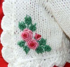 Рельефная вышивка в стиле рококо