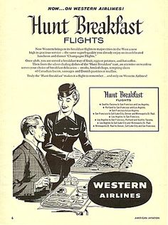 western airlines hunt breakfast