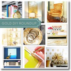 Go for the Gold { awesome gold projects from around the web} via @fieldstonehill Fieldstone Hill Design