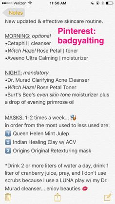 New and improved skincare routine.