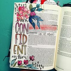 Bible Journaling by @kristenwolbach   1 John 3:18-22