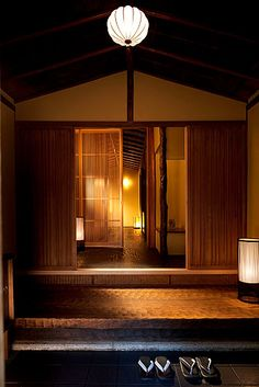 Home in Kyoto, Japan Japanese Home Design, Traditional Japanese House, Japanese Modern, Japanese Style, Japanese Architecture, Architecture Design, Japan Interior, Oriental, Home And Deco