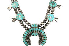 Frank Dishta-Style Turquoise Squash Blossom Necklace by Ruby + George on @One Kings Lane