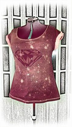 Teen mitä vaan - Another diamond t-shirt, art project for my school Diamond T Shirt, I School, Art Projects, Teen, Shirts, Clothes, Outfits, Clothing, Kleding
