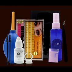 Eyelash Lashes Extension Curler Kit Perming Glue Perm Professional Portable Beauty Grafting Eyelash Salon Makeup