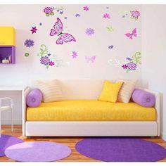 Vinilo decorativo mariposas de colores - $ 24.900
