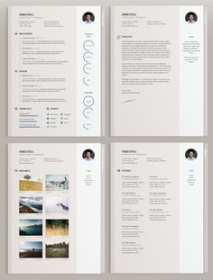 20 Free Editable CV Templates -Minimal CV Template by Theme Raid
