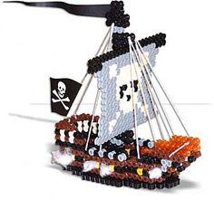 3D Perler Bead Pirate Ship
