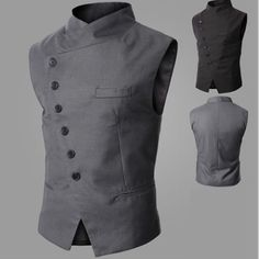 Side Button Waistcoat - DEAL MAN