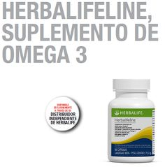 Herbalifeline es particularmente rica en ácido graso Omega-3 Eicosapentaenoico, (EPA), así como en ácido docosahexaenoico, (DHA), y proporciona un completo espectro de más de 20 lípidos de origen marino.