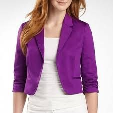 Purple cropped blazer