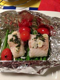 Vispakketjes van Natasja, als ze uit de oven komen.