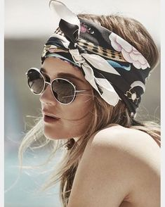 Beach Fun And Summer Looks 2018 Picture Description Rosie Tupper, scarf Bobby Pin Hairstyles, Bandana Hairstyles, Cute Hairstyles, Summer Hairstyles, Easy Hairstyle, Natural Hairstyles, Rosie Tupper, Look Festival, Hair Scarf Styles