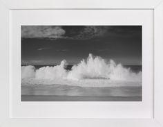 """Shorebreak Drama"" - Art Print by Debra Butler in beautiful frame options and a variety of sizes. Canvas Art Prints, Fine Art Prints, Wave Art, Custom Art, Canvas Frame, Wood Canvas, New Art, Butler, Landscapes"