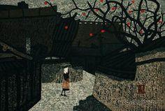 Asai Kiyoshi: Village With Persimmon Tree