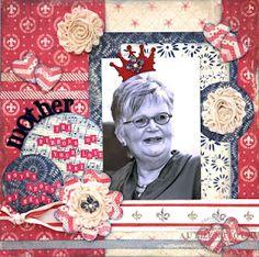 """Mother"" Scrapbook Layout by Authentique Paper DT member Loes de Groot"