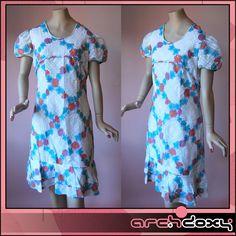 Vintage 1960s MOD Flower Geometric White Print Empire Twiggy Scooter Dress   http://www.ebay.co.uk/itm/Vintage-1960s-MOD-Flower-Geometric-White-Print-Empire-Twiggy-Scooter-Dress-UK14-/281991157610?ssPageName=STRK:MESE:IT