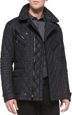 lp Luen BlckLbel Quilted Nylon Jacket Black