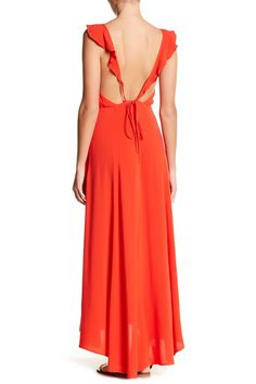 Ruffle Trim Maxi Dress by Lush on @nordstrom_rack