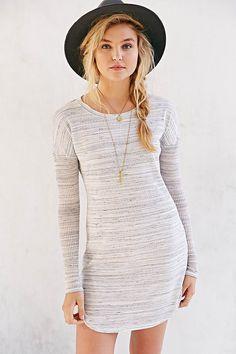 BDG Rib-Sleeve Knit T-Shirt Dress