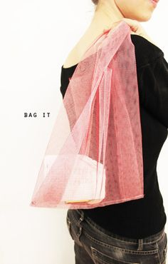 via sfgirlbybay Tulle bag?! Why didn't I think of this? So cool!!