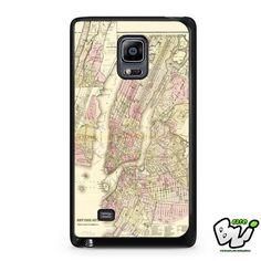 Vintage New York Map Samsung Galaxy Note Edge Case